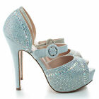 miami vice fancy dress - Vice158 Shimmer Peep Toe Rhinestone Studded D'orsay Stiletto Dress Pumps