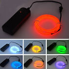 2017 5M Useful Glow LED Light El Wire String Strip Rope With Battery Box Suit