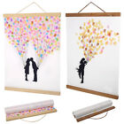 21/30/40/50cm Magnetic Wooden Photo Frame Scroll Print / Poster / Picture Hanger