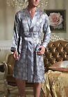 FREE Ship GIFT Mens Satin Silk Pajama Kimono Robe Gown Loungewear US M up to 4XL