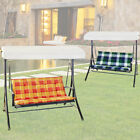 2 piece checkered garden furniture upholstery seat cushion pillow multicolored