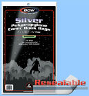BCW: Comic Bags: RESEALABLE: SILVER or SILVER-THICK:  100ct    *FREE SHIP in USA