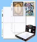 BCW: 3-Ring Polypro Pages: 4-POCKET Postcard:1000ct:10 boxes (100 per) CASE-LOT