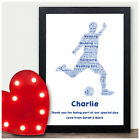 Personalised Football Word Art Thank You Gift - Page Boy Usher Best Man Wedding