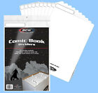 BCW: Fold-Tab Box Dividers: COMIC Size WHITE  50ct *FREE SHIPPING in USA