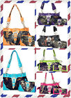 Buckle Concho Camouflage Shoulder Handbag Purse with Matching Wallet 5 Colors