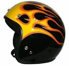 THH T380 O/FACE BLACK FLAMES - WITH STUDS  SUIT ALL MOTORCYCLE RIDING USE