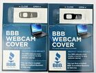 Webcam Cover BBB Stops Camera Spying For Laptop Computer TV And Tablet Black
