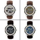 Adixion Men's Water Proof Analog Round Dial Wrist Watch PU Leather Strap