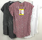 New Jachs Girlfriend Ladies' Short Sleeve Button Front Blouse Variety 100% Rayon