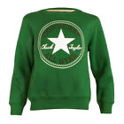 Childrens Converse Chuck Patch Green Crew Neck Sweatshirt