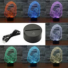 7 Colors Headphone Warship 3D Touch Switch LED Night Light Decor Desk Lamp Gift