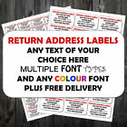 HIGHLY PERSONALISED RETURN ADDRESS STICKY STICKER LABELS CHEAPEST ON EBAY +P&P