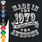 Made in 1977 40th Birthday t-shirt Present Gift vintage look father Mens Women