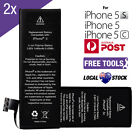 2 X Internal Battery Replacement High Capacity For Apple iPhone 5 5S 5C + Tools