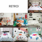 3 Pce Retro Home Printed Doona Duvet Quilt Cover Set - QUEEN KING