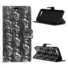 """For LG U F820L 5.2"""" 3D Punk Style Rugged PU Leather Flip Cover Case Wallet Horse"""