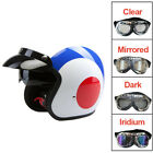 Viper RS-V06 Open Face Jet Motorbike Motorcycle Helmet Target + Extra Goggles