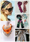 1 Pc  Real Silk Bandeau Scarf Bagtwilly Headband Wrap Floral Leopard Trunk Print