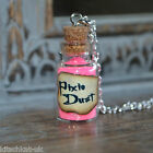 Cute small Pink Pixie Dust Potion Bottle Vial Necklace Peter Pan Tinkerbell