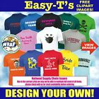 Personalised Custom Printed T Shirt Your Design Stag Do Hen Party Club Team Work