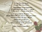 College Graduation Personalized Poems ~ Robe Background~See all 24 styles