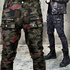 NewStylish mens bottom Zipper accent button cargo pocket camouflage pants