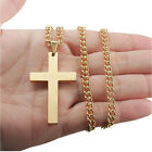 New Women Men Titanium Cross Pendant Prayer Necklace Pendants for A Neck Jewelry