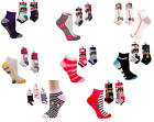 6 or 12 Pairs Ladies Women Girls Trainer Liner Socks- Gym- Sports  - UK Size 4-6