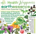 earthessence CERTIFIED 100% PURE ESSENTIAL OILS ~ Most Popular Range FREE GIFT .