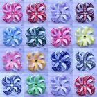 Girl's Handmade 3 inch Gingham Spiked Blossom Bows School Hair Clips Bobbles x2