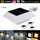 4Pack Solar Powered 6 LED Gutter Light Roof Lamps Outdoor Garden Fence Yard Path