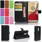 Leather Flip Stand Card Wallet Protector Case For Motorola Moto Z / Force / Play
