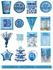 13 / 13th Birthday Blue Glitz Party Range - Party/Plates/Napkins/Banners/Cups