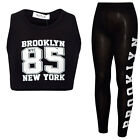 Girls Brooklyn 85 Sleeveless Crop Top & Legging Suit Kids Clothes Age 7-13 Years
