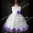 MFWPP9 Baby Flower Girl Wedding Junior Bridesmaid Holiday Formal Prom Gown Dress