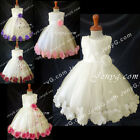 MFI8 Baby Girls Wedding Pageant Holiday Holy Communion Formal Prom Gowns Dresses