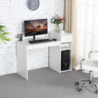 Computer Desk Laptop Steppe w/Drawer Home Office Study Wood Workstation Furniture