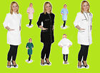 Long Uniform Dentist Pockets Hospital Doctors SPA Dress Beauty Tunic Nail Nicole