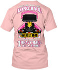 Breast Cancer Lowboy Long Haul Keep'em For The Hanes Tagless Tee T-Shirt