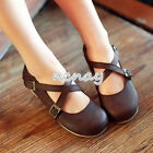 Women's Casual Flats lolita Cross Strapy Shoes Boeat Shoes Mary Janes Pumps Size