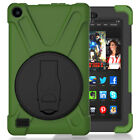 360 Rotating Stand Protective Case For Amazon Kindle Fire 7 5th Gen 2015 Tablet