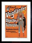 VINTAGE AD VOIGTLANDER CAMERA LENSES GERMANY FRAMED PRINT F12X7721