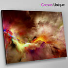 AB1214 Yellow black cloud effect Abstract Canvas Wall Art Framed Picture Print