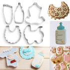 5Pcs Stainless Steel Baby Clothes Cake Cookie Biscuit Cutter Fondant Pastry Mold