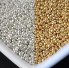 Внешний вид -  1200Pcs gold and silver Czech Glass Seed Spacer Beads For Jewelry Making 2mm