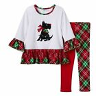 New BONNIE JEAN Holiday Outfit Size 12 months SCOTTY DOG Christmas 2 piece Set