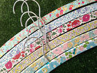 Handmade Farrow & Ball painted Liberty Floral Decorated Wooden Hanger