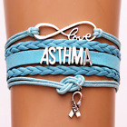 Custom name colors infinity Love Asthma Hope Ribbon Courage Awareness Bracelets