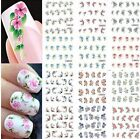 3D Design Beautiful Flowers DIY Polish Wraps Stickers Nail Decals Manicure Tips